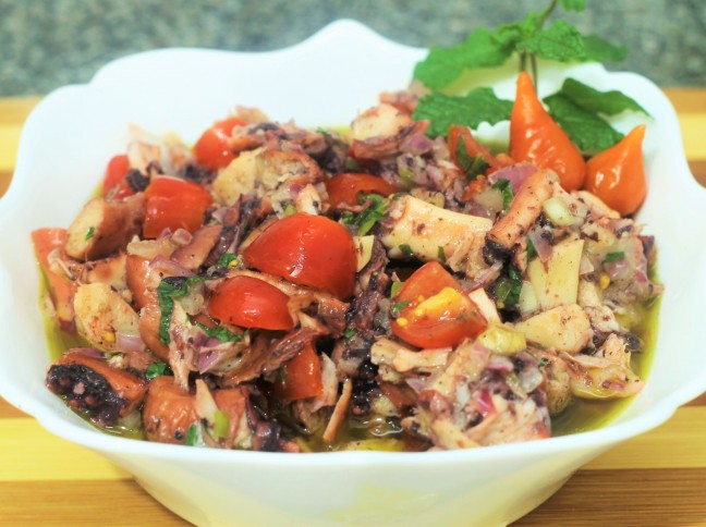 Salada Quente de Polvo